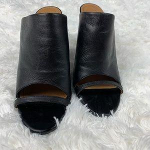 Open Toe Mule Chunky Heel Black 9 14th & Union